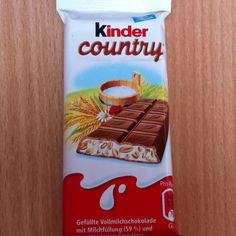 Kinder Country - I loved this chocolate bar! It has puffed rice in the filling, so it can be eaten for breakfast, right? Ah, Germany!!