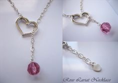 New Rose Lariat Necklace