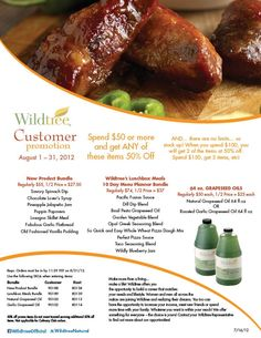 August 2012 Customer Promotion!    www.Facebook.com/wildtreeofficial
