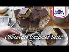 Chocolate and caramel lovers - this one is for you! The crisp biscuit base pairs perfectly with the soft caramel filling and decadent chocolate topping. Chocolate Caramel Slice, Chocolate Topping, Chocolate Caramels, Decadent Chocolate, Melting Chocolate, Cooking Chocolate, No Sugar Foods, No Bake Treats, No Bake Cake