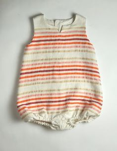 too cute - stripes romper for baby