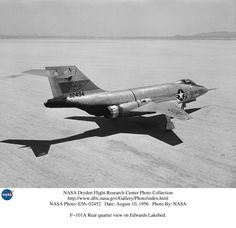 An F-101A in NACA livery. Even on the ground it looks fast.