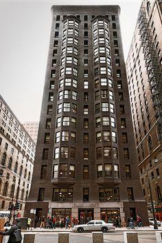 Monadnock Block (1891-1893), front, The Loop, 53 W Jackson Blvd, Chicago, IL, USA