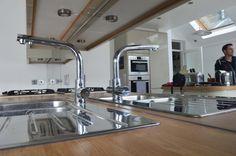 Interview With Kitchen Splashback Designers CreoGlass Kitchen Splashback Designs, Kitchen Design, Glass Kitchen, Cool Kitchens, Sink, Interview, Designers, Home Decor, Sink Tops