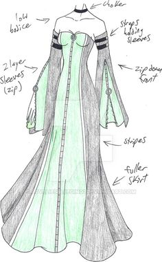 Super ideas fashion ilustration dresses deviantart Source by dress drawing Clothing Sketches, Dress Sketches, Dress Drawing, Drawing Clothes, Fashion Design Drawings, Fashion Sketches, Anime Dress, Fantasy Costumes, Fantasy Dress