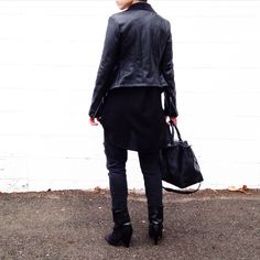 All Black Everything. Styled by Fashionably.Fit