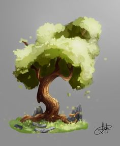 Environment Painting, Environment Concept Art, Sketch Manga, Tree Study, Landscape Concept, Affinity Designer, Forest Illustration, Digital Painting Tutorials, Landscape Drawings