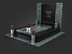 Nowoczesne nagrobki - Kamieniarstwo NeRo | Śląsk i cała Polska Tombstone Designs, 2d, House, Black Granite, Home, Haus, Houses