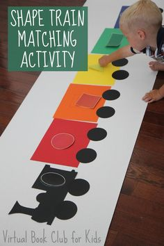 """The post """"Toddler Approved!: Shape Train Matching Activity"""" appeared first on Pink Unicorn Toddler Classroom, Toddler Learning, Preschool Learning, In Kindergarten, Preschool Crafts, Classroom Ideas, Transportation Activities, Train Activities, Toddler Activities"""