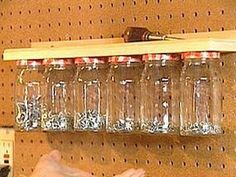 Cute idea for spices.....what?  No! Great place for your nuts.  Bolts too.