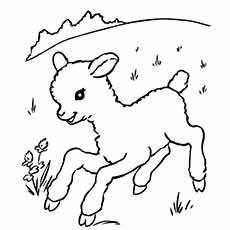 sheep and dogs coloring pages - photo#25