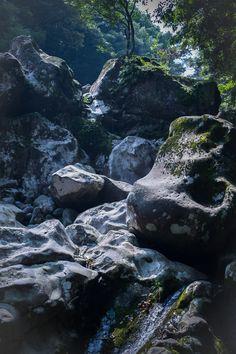 Jeju Island South Korea, waterfalls near Donoko Resort
