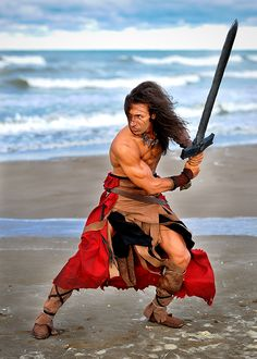 Conan the Barbarian Action Pose Reference, Human Poses Reference, Pose Reference Photo, Anatomy Reference, Sword Poses, Fighting Poses, Anatomy Poses, Figure Poses, Cool Poses