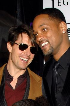 Tom Cruise and Will Smith at the I Am Legend NY premiere