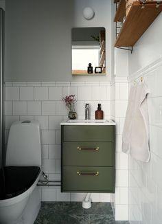 Small Bathroom Inspiration, Home, Bathroom Inspiration, Interior Inspo, Downstairs Bathroom, Laundry In Bathroom, House Interior, Apartment Interior, Bathroom