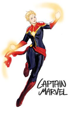 Captain Marvel    http://sun-stark.tumblr.com/post/119837699060/ladies-doodles