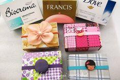 ! Pesquei na net !: Reciclagem: caixinhas de sabonete forradas com tecido