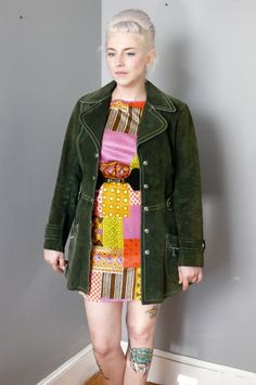 S O L D ! Vintage 1960s Green Mod Leather by LonePony via Etsy