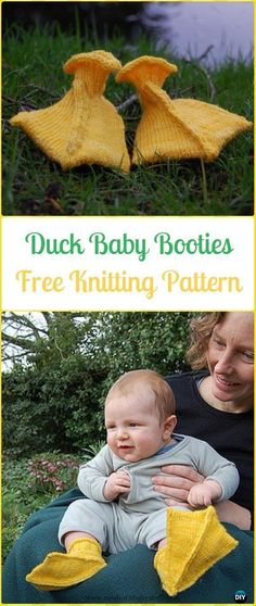Baby Knitting Patterns Knit Duck Baby Booties Free Pattern - Knit Slippers Booties ...