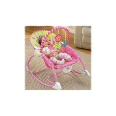 Toyzen SmartKids Baby to Toddler Rocker Chair Froggie Fisher Price Vibration Bouncer infant rocker music chair -(Pink)