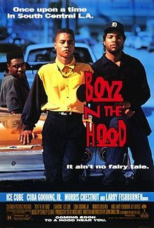 1991  Boyz n the Hood is a 1991 American hood film written and directed by John Singleton. Starring Cuba Gooding, Jr., Ice Cube, Laurence Fishburne, Morris Chestnut, Nia Long, Angela Bassett and Regina King, the film depicts life in poor South Central (now South) Los Angeles, California and was filmed and released in the summer of 1991.