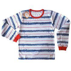 7a547a8ba Remera rayada marino de jersey de algodón-niño-ropa para chicos y bebes