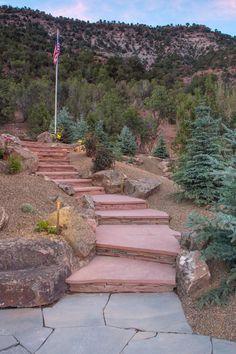 Landscape Contractor Flagstaff - Retaining Walls - Steps