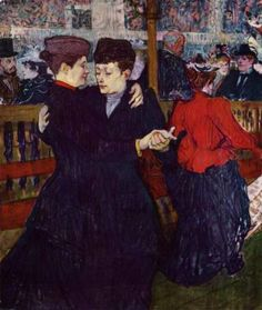 At the Moulin Rouge the Two Waltzers 1892 | Henri Toulouse Lautrec | Oil Painting