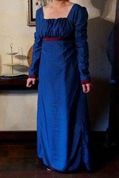 Empire Jane Austen Dress Regency Day Gown
