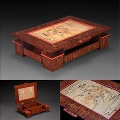 One of Many Incredible Boxes by Steve Altman Small Wooden Boxes, Wooden Jewelry Boxes, Small Boxes, Wood Boxes, Jewellery Boxes, Wooden Keepsake Box, Keepsake Boxes, Woodworking Box, Woodworking Projects