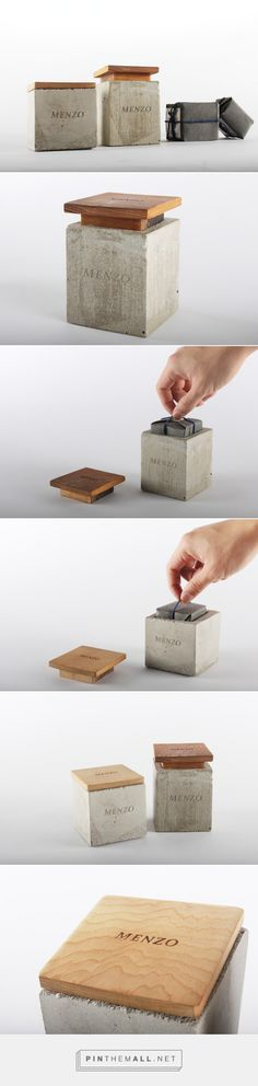Menzo Men's Soap packaging by Yu-Heng Lin. Wood Packaging, Tea Packaging, Cosmetic Packaging, Brand Packaging, Beauty Packaging, Design Packaging, Inspire Me Home Decor, Mens Soap, Concrete Design