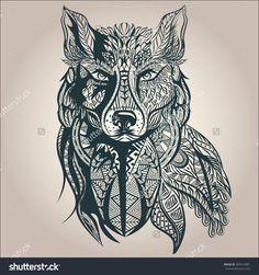 wolf silhouette tattoo - Buscar con Google