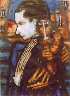 Kamel Telmisany, Albert Cossery (Museum of Modern Art, Cairo)