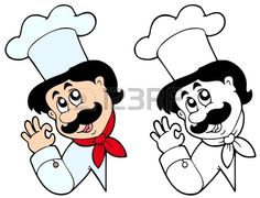 Chef Vector Images (over Cartoon Kiss, Cute Cartoon Faces, Zombie Cartoon, Cartoon Books, Cartoon Characters, Cartoon Chef, Vector Art, Vector File