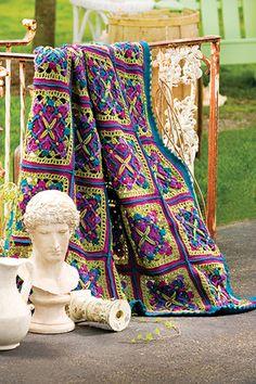 free afghan pattern, crochet