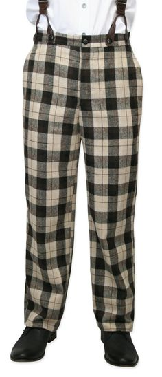 """Understated is for the meek. Not at all mild-mannered, our Brown Plaid Pants exclaim, """"Hey there, good mate! The next round's on me!"""" For the bon vivant to the bona fide bookworm with a wild side, these 19th century-inspired trousers will have you mad about plaid."""