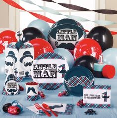 Little Man Mustache Party theme... I want to do this for one of Jackson's b-days between the ages of 1-6