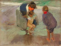 Joaquín Sorolla y Bastida, On the beach, 1908