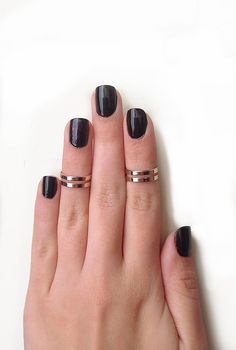 Love Double Knuckle Rings in Rose Gold  set of 2 by galisfly, $19.99