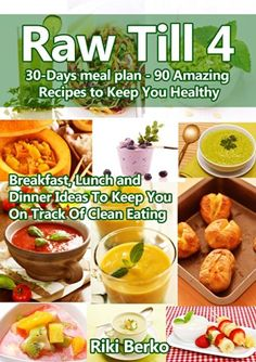 The Raw Till 4 Diet Plan consists of high carb, low fat, low protein meal plans. It's really quite flexible, but here you'll find some of the Raw Till 4 principles. Vegan Recipes Videos, Raw Vegan Recipes, Vegan Breakfast Recipes, Diet Recipes, Vegan Raw, Vegan Chef, Diet Meals, Dessert Recipes, Healthy Recipes