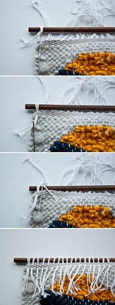 Tie-off Hang a Weave   The Weaving Loom