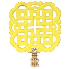 Hillary Thomas Dynasty Mellow Yellow Lamp Finial