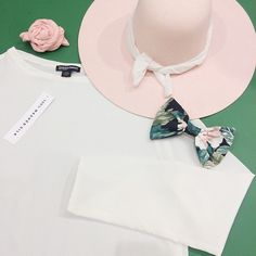 Washed silk and pretty in pink accessories.