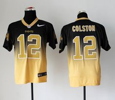 Nike New Orleans Saints Marques Colston Black Gold Mens Stitched NFL Elite  Fadeaway Jersey bd72239d0