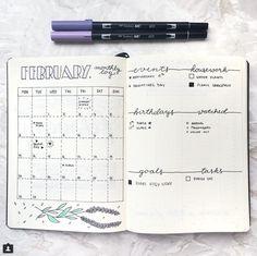10 idées de page Monthly log pour votre bullet journal / vue mensuelle