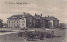 Men's Residence Macdonald College STE ANNE DE BELLEVUE Quebec 1920-30s Postcard