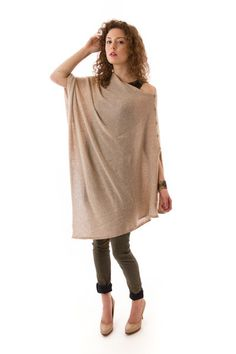 Lexi Poncho in Solid Wheat, 27 Miles Malibu, $210 via boutiika.com