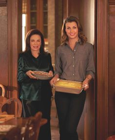 C Social Front. Spotlight: The Blue Bloods Cookbook. Wendy Howard Goldberg and actress Bridget Moynahan, co-authors of The Blue Bloods Cookbook.