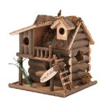 Birdhouses are one of my favorite novelty gifts to give my friends. My sister is moving into a new home, so I thought something like this cute cabin-style birdhouse would make a good decoration for her yard. I think that this could make a cute house warming gift when I come to visit her after she moves in!