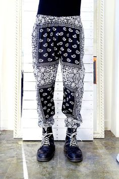 Pants made from bandanas. And they come with an elastic waist. Pretty sure we know what our hubbies are getting for Christmas!